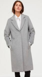 manteau gris h&m